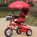 Asiento de bicicleta bebé carro triciclo para niños una clave rotary 1-5 bebé de tres ruedas de Bicicleta