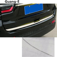 Car Styling Detector Stainless Steel Cover Trim Back Tail Rear Lamp Frame Bumper Parts 4pcs For
