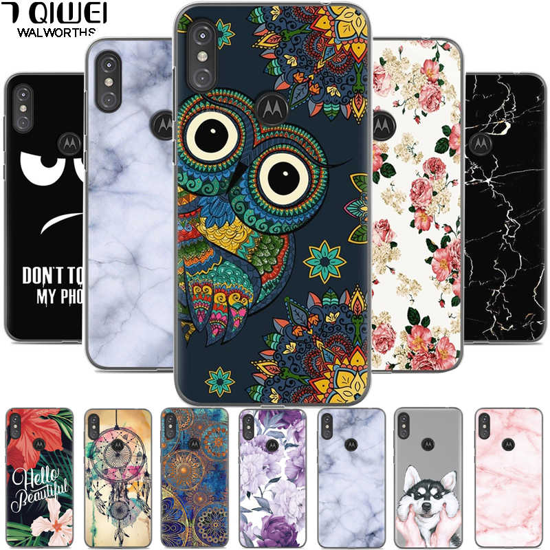 5.9'' For Moto One Case Silicone Soft Back Cover For Motorola Moto P30 Play Case TPU Cover For Moto One Motorola one XT1941 Para