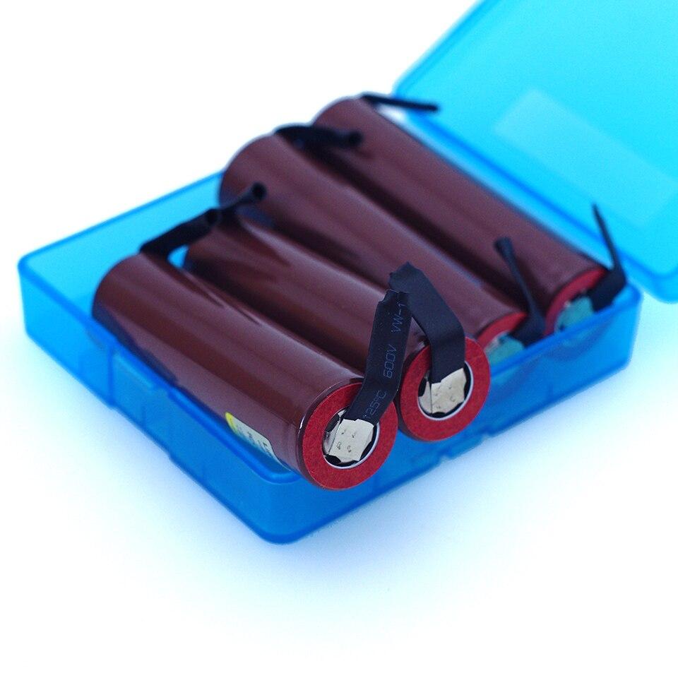 Liitokala 4 piezas para HG2 18650 3000 mAh cigarrillo electrónico con batería recargable de alta-descarga 30A de alta corriente de nicke + caja
