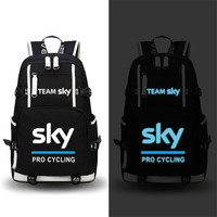 High Quality Team Sky Pro Cycle Luminous Printing Backpack Military Backpack Large Capacity Travel Bags Canvas