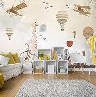 Оптовая продажа, легкий крем для детей, свободный мух, украшение обоев для детской комнаты, детская комната, Настенная бумага