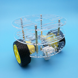 Image 2 - 1set 2WD Smart Robot Car 3 Layer Acrylic Chassis Kits with Speed Encoder For Arduino Promotion Free Shipping