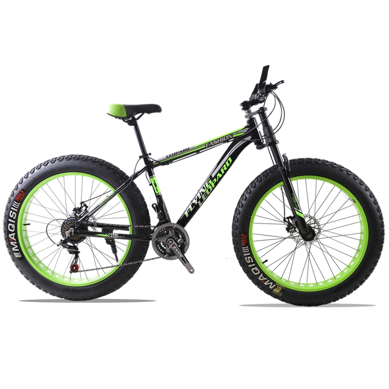 Горный велосипед алюминиевая рама 21/24 скорость Shimano механические тормоза 26 x 4,0 колеса длинные вилка жира велосипед дорожный мотоцикл