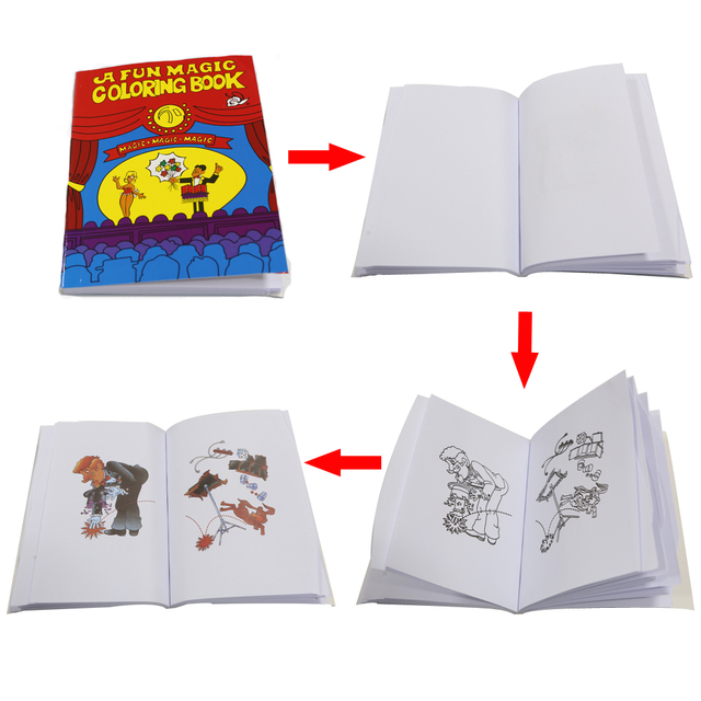 10pcs Fun Magic Coloring Book Mini size 13.7cm*10cm Magic tricks ...