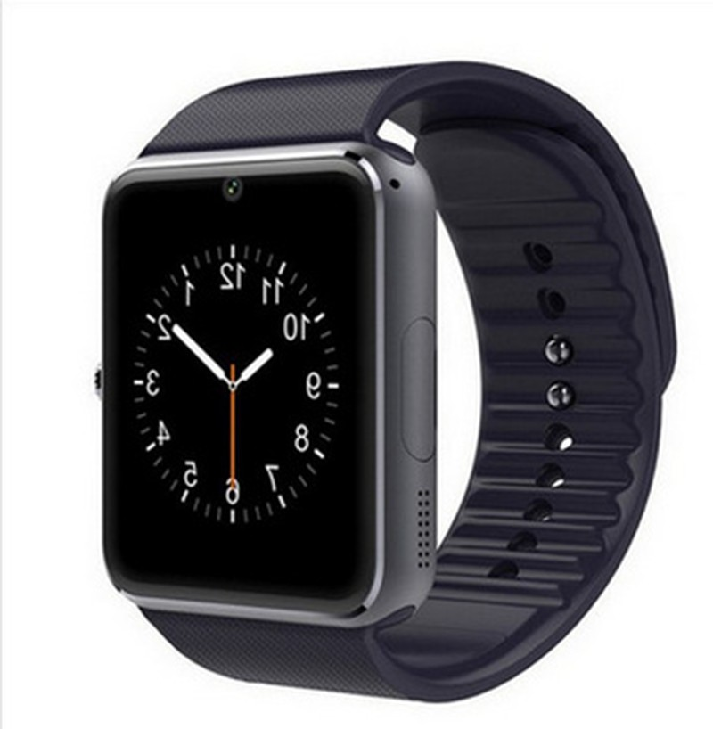 Jeebel GT08 Smart Watch Men Android Clock Alarm Call Watch Slot Push Message Bluetooth TF card Camera Smart Watch with Simcard