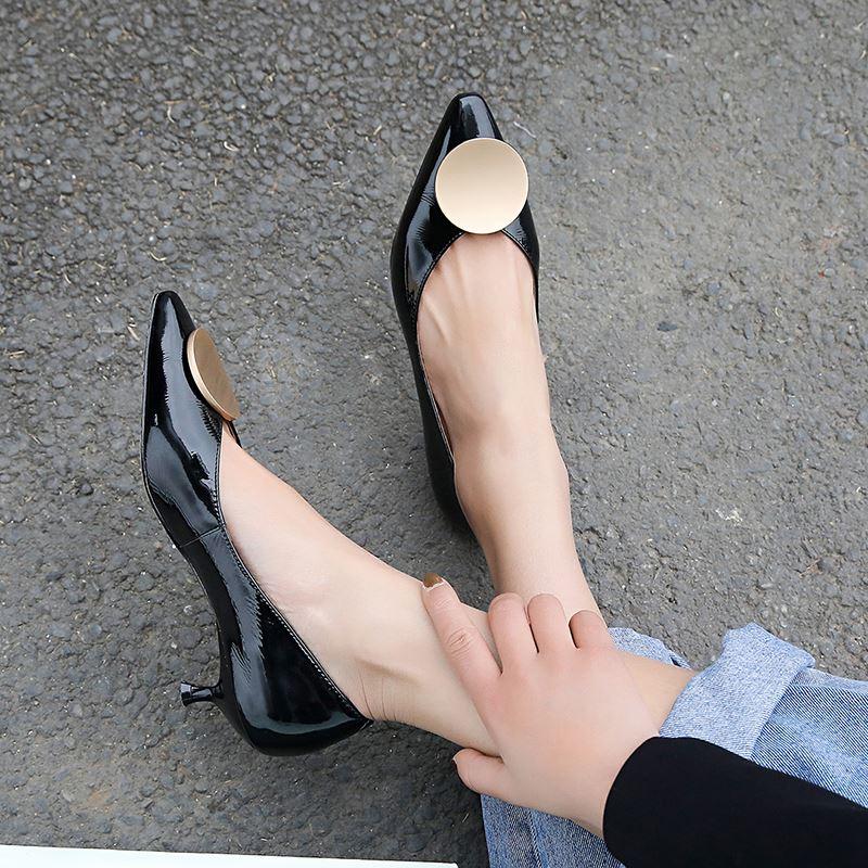 Chaussures Marque À Talons Pointu Printemps De as Minces As Pour Mode Allbitefo Orteil Femmes Sexy Picture Cuir Picture Véritable tqfAw6IX