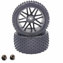 2 Unids 88 MM RC 1/10 Buggy Ruedas Traseras Neumáticos De Goma Hexagonal 12mm Ancho: 41mm Para El Control Remoto Control de Manía Del Coche