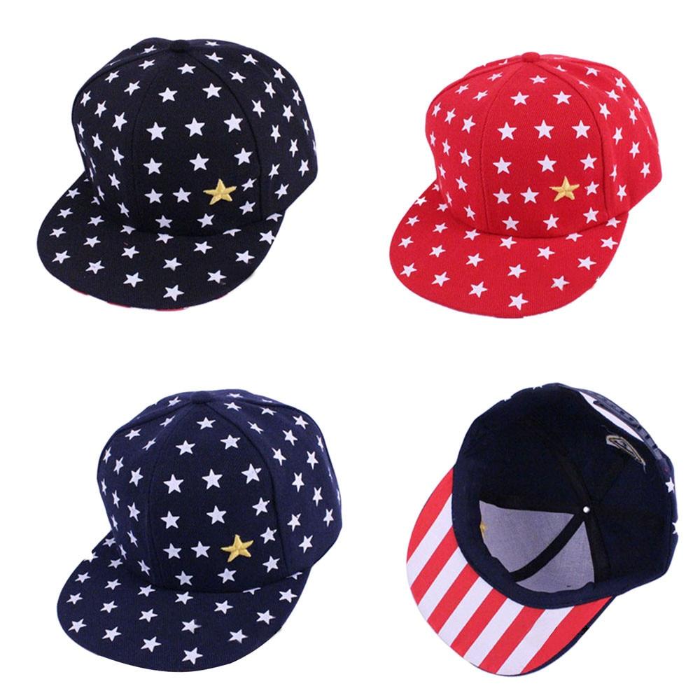 2019 Fashion Men Women Plain New Kids Baby Children Star Pattern Hip Hop Baseball Cap Peaked Hat Men and Women 7.11  0.2(China)