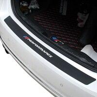 New Performance Rubber Rear Bumper Trunk Trim Rear Guard Protector Car Sticker For Bmw E39 E46