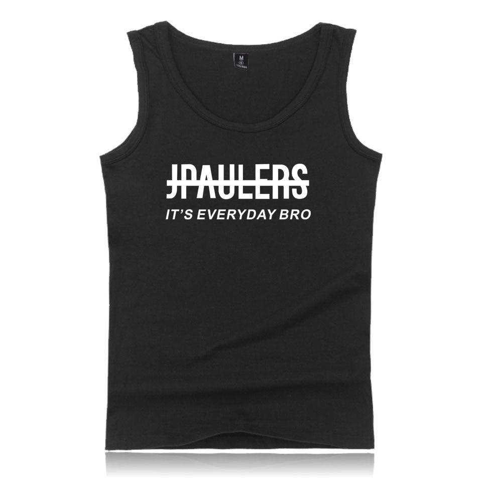 New Summer Men Tank Tops Jake Paul Cotton Casual Crewneck T-Shirts Harajuku Pullover vest Hip-Hop Top Jake Paul