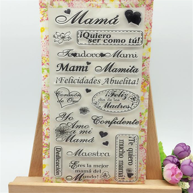 Warm Mama with Sweet Heart Transparent Clear Stamp DIY Silicone Seals Scrapbooking/Card Making/Photo Album Decoration Crafts loving heart and ballon transparent clear stamp diy silicone seals scrapbooking card making photo album craft cl 285