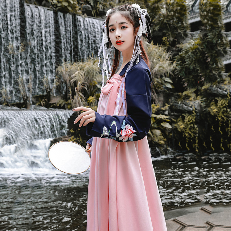 Retro Dance Costume Women Hanfu Chinese Traditional Stage Wear For Singers Folk Dress Oriental Perform Festival Outfit DC1848