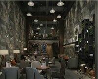 Beibehang 3D Fashion Antique Brick 3d Wallpaper Chinese Rock Retro KTV Restaurant Living Room TV Background