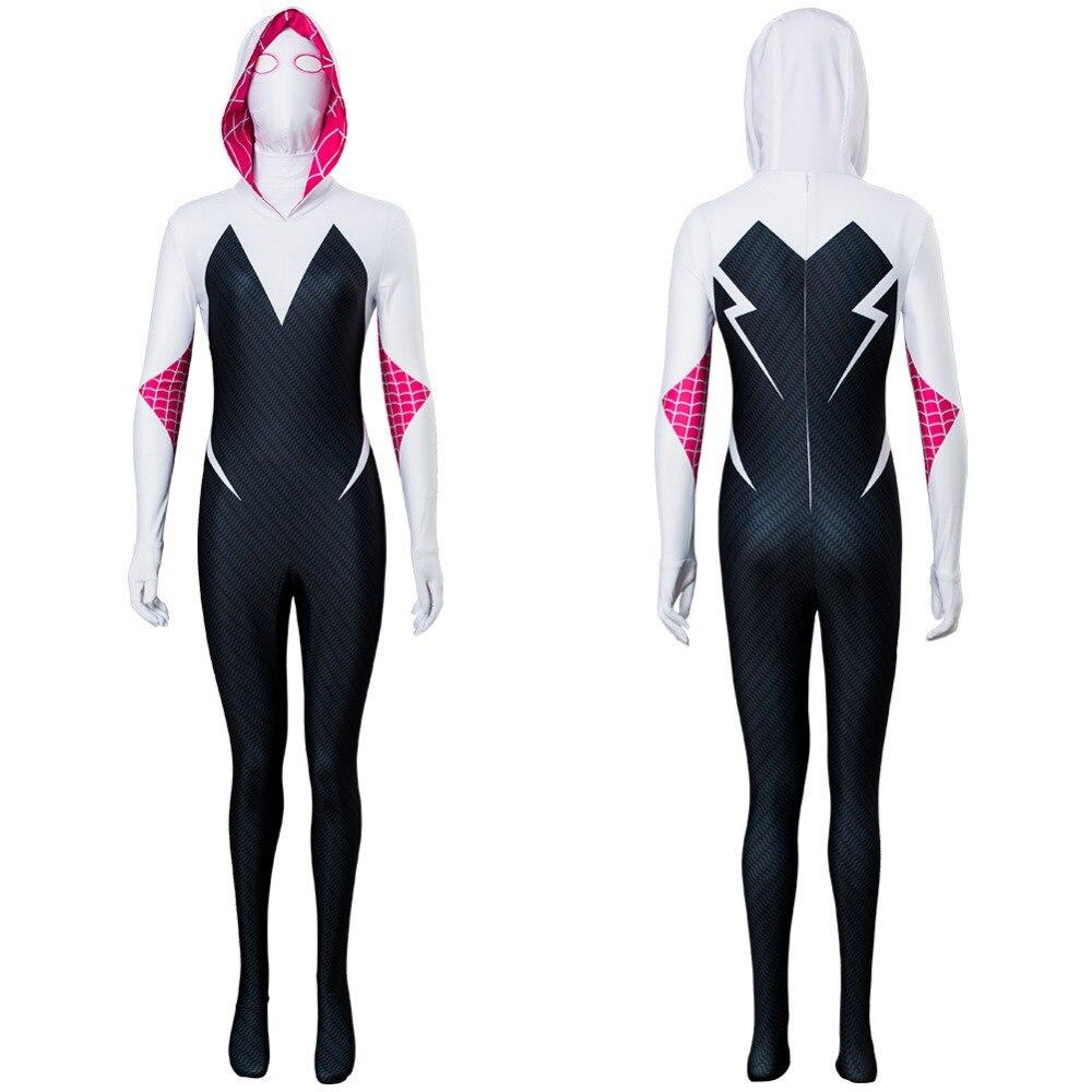 Gwen Stacy Cosplay Costume venin Symbiote araignée Gwen Stacy Spiderman Costume pour femmes plein corps Zentai combinaison sur mesure