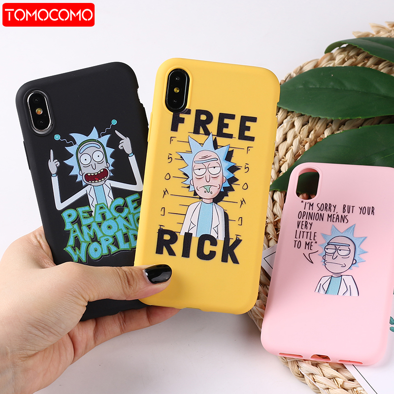 Rick And Morty Funny Cartoon Comic Meme Funny Words  For iPhone 8 8Plus X 7 7Plus XR Xs Max Soft TPU Silicone Matte Case Fundas(China)