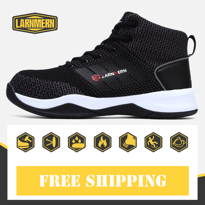 Mens Work & Safety Shoes Steel Toe Protective Boots Breathable Air-mesh Light Work Safety Shoes Soft For Construction RubberMens Work & Safety Shoes Steel Toe Protective Boots Breathable Air-mesh Light Work Safety Shoes Soft For Construction Rubber