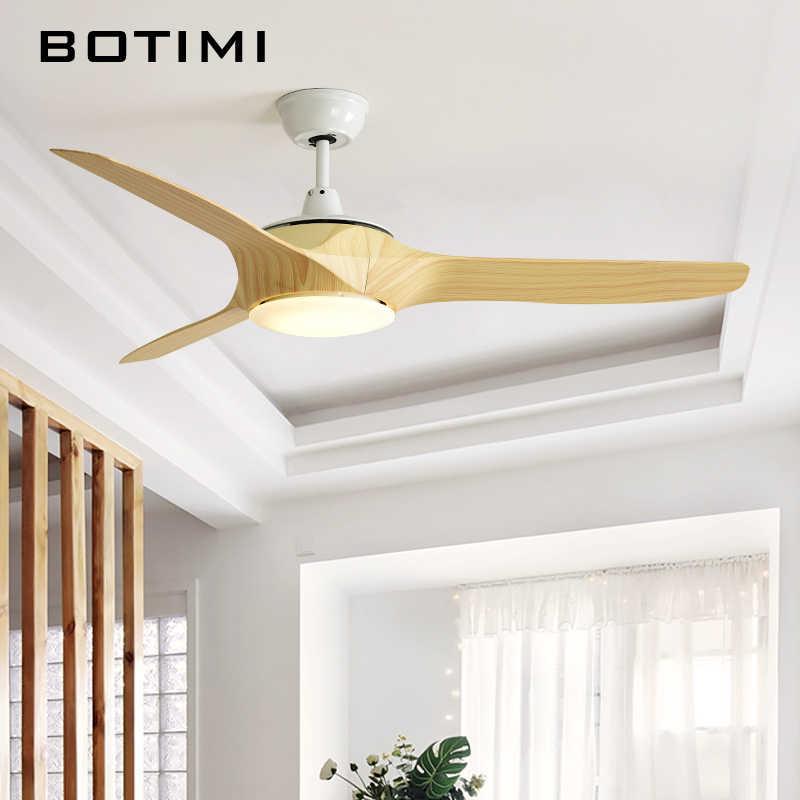 Botimi 220 В светодиодный потолочный вентилятор для гостиной Ventilador de techo Nordic потолочные вентиляторы с Дистанционное управление освещением низкие потолочные лампы