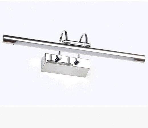 Led mirror light bathroom stainless steel mirror cabinet for Dressing table lamp lighting