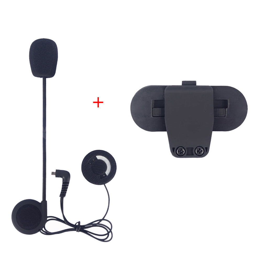 Motorcycle Helmet Intercom Accessories Microphone Earphone and Clip  Suitable for Freedconn T-COMVB,TCOM-SC bluetooth Interphone