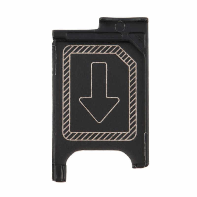 1 piece חדש שחור מיקרו Sim כרטיס מגש חריץ מחזיק חלקי חילוף עבור Sony Xperia Z3 קומפקטי Z3 מיני M55w ה-sim כרטיס מחזיק