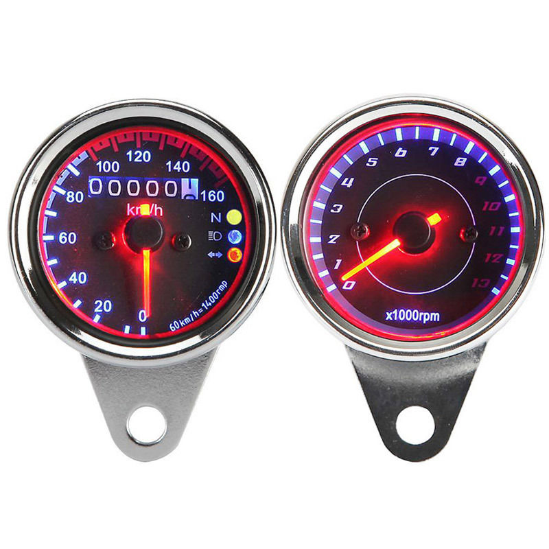 Speedometer Odometer Tachometer For Honda CB VT Yamaha Virago XV Harley Cafe Racer Cruiser old school motorcycle gauges