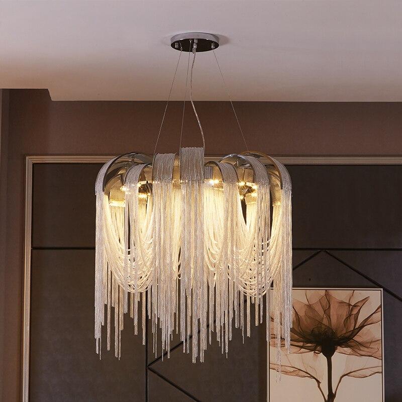 Novo design LEVOU lustres de alumínio de luxo luz D650mm Ouro/prata pode ser personalizado