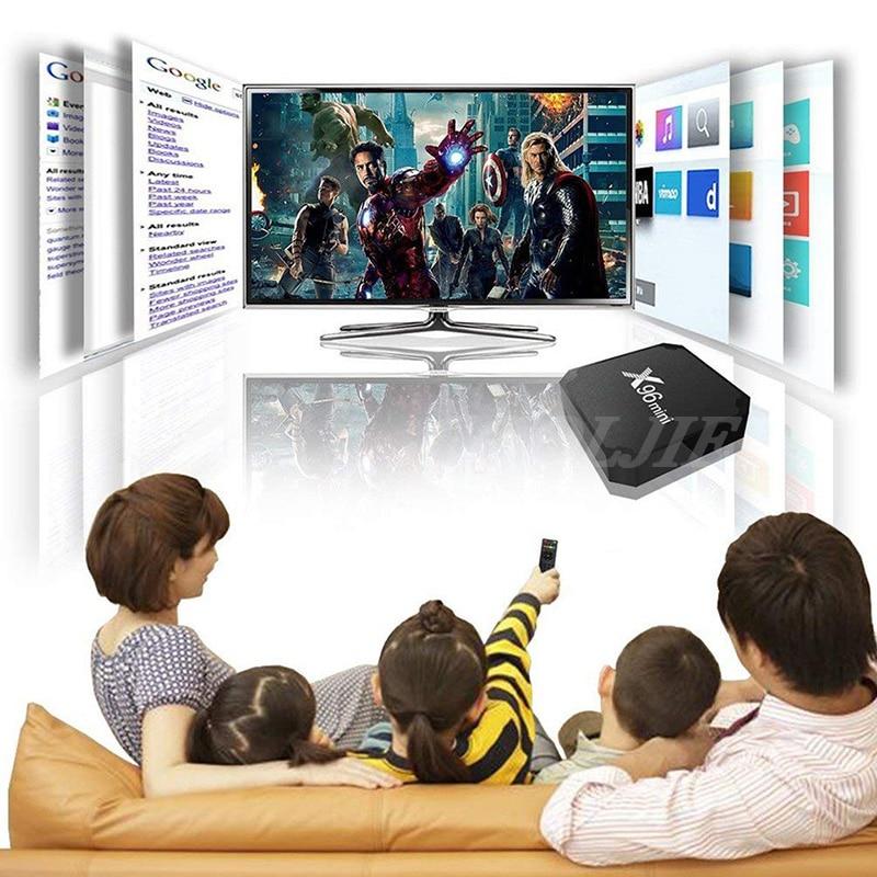 Image 4 - X96 mini TV BOX Android 7.1 OS WiFi Smart TV Box 2GB 16GB Amlogic S905W Quad Core Set top box 1GB 8GB X96mini Media Player-in Set-top Boxes from Consumer Electronics
