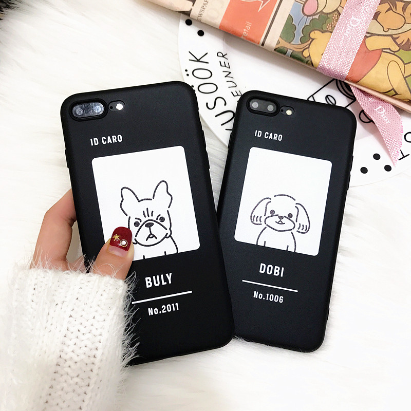 Funny Cartoon Phone Case For iphone X Case For iphone 6S 6 7 8 Plus 5se Cover Fashion Cute Dobi Gogs Animal Soft TPU Black Cases