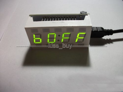 Mini CRE 51 SCM DIY Electronic Design LED Green Digital Clock Alarm Desktop Time