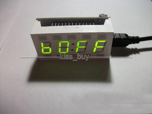 Mini CRE 51 SCM DIY Electronic Design LED Green Digital Clock Alarm Desktop Time