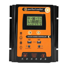 70A MPPT Solar Charge Controller Solar Panel Battery Regulator Dual USB LCD Display Solar Charge Controller 240v solar panel charge control 75a solar regulator control charge solar