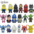 Star Wars Key Chains Minions keychain Iron Man Key Holder Hulk Big Hero 6 Batman Olaf Pikachu Keyrings Spiderman Lighting Sounds