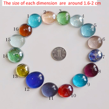 Free shipping stained glass marbles 2cm color decorative aquarium gravel pebble stone  in bulk sale