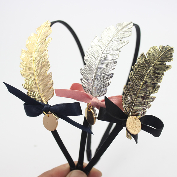 South Korea authentic hair Han edition leaves feather clip molding temperament