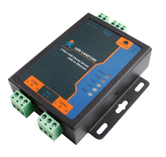 La boîte industrielle de USR-CANET200 aux Supports de convertisseur d'etherent peut à l'ethernet/peut à RS485/Ethernet à RS485