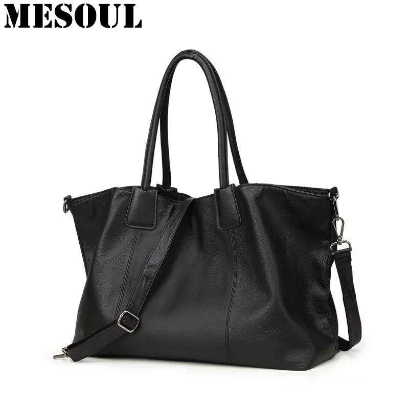 Fashion Large Handbag Women Soft Genuine Leather Shoulder Bags Luxury Simple design Composite Bag Female Casual Shopping Tote цена