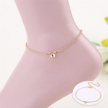 1PC Cute Hot Butterfly Golden Silvery Alloy Chain Anklets Beach Accessories Fashion Jewelry
