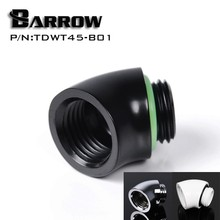Barrow TDWT45-V2 45 Degree Male to Female Angle Fitting with G1/4'' Silver/Black/White/Gold Options(China)