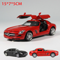 1:32 High Simulation Pull back Model Toy Diecast Model Sports car SLS AMG Vehicle Model Alloy 1/32 Car toys For children
