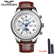 Original Luxury watches men Waterproof Men automatic Brand GUANQIN GQ20022 sapphire watches famous hours man wristwatches men watches gold luxury brand guanqin watches with moon phase date month week luminous 24 hours display clock sapphire man watch