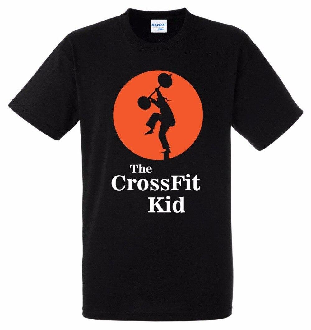 Новый Для мужчин майка 2018 классический Топы и футболки Crossfit малыш karate kid пародия roguehip-хоп улица футболка