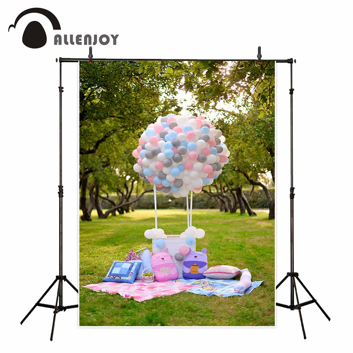 Allenjoy photo background balloons grassland picnic toy children backdrop tree park backgrounds for photo studio decorations magic balloons water kids toy 111 water balloons in less than one minute water bunch of balloons for children s outdoor sports