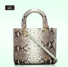 100% genuine python skin women messenger shoulder bag,  2016 New fashion snake skin leather women shoulder bag, cross body bag
