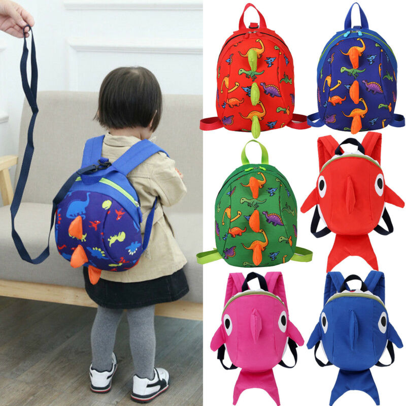 Cute Dinosaur Baby Safety Harness Backpack Toddler Anti-lost Bag Children extremely durable sturdy and comfortable Schoolbag ヒステリック ミニ 高 画質