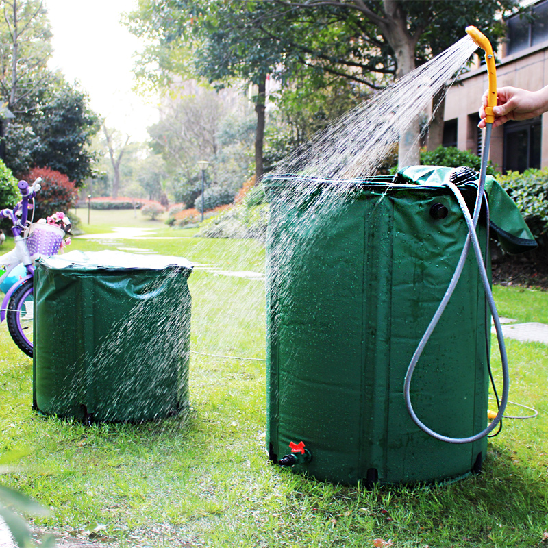 rain barrel strong PVC tarpaulin collapsible large rain water tank water collector garden irrgation 225L 60x80cm water bag