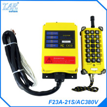 Grain loader 380V AC 1 Speed 1 Transmitter 21 Channels Hoist Crane Industrial Truck Radio Remote Control System Controller f21 2s dc24v 2 channels control hoist crane radio remote control system industrial remote control battery