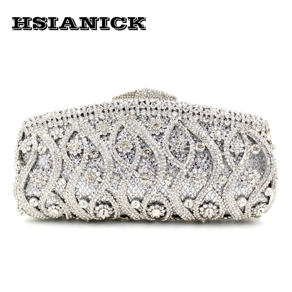2017 Woman Bag New Selling Party Handbag Hot Luxury Hollow Diamond Evening Bags Bridesmaid Women Clutch Full Hard Case Handbags europe new upscale butterfly diamond evening bag full diamond party handbag clutch