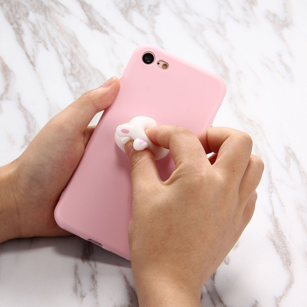 Iphone 6 squishy case - Squishy Phone Case For Iphone 6s Kawaii 3d Rabbit Squeeze Relief Squishy Soft Silicone For Iphone