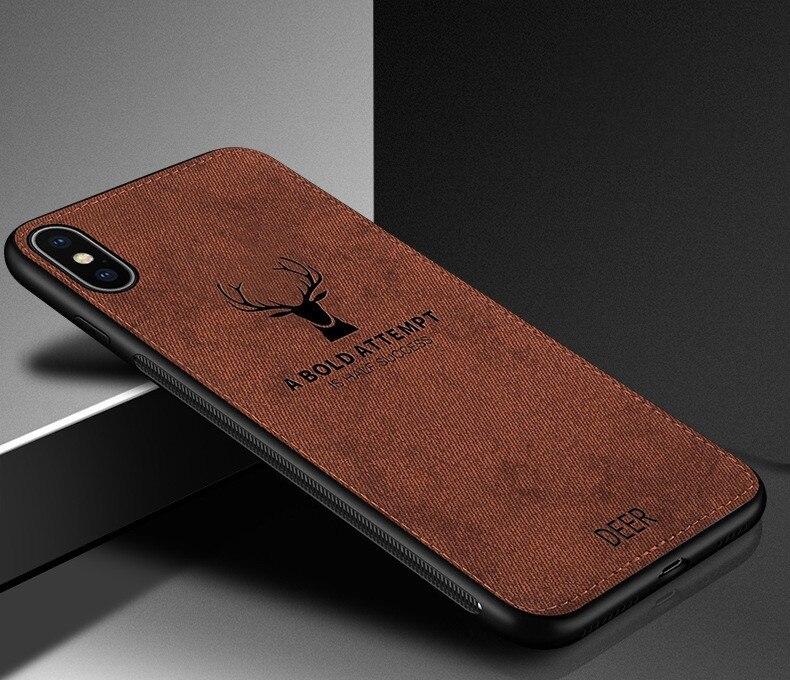 Luxury Deer Cloth TPU Phone Case For Smasung S10E S8 S9 S10 Plus S7 S6 Edge A8 A6 Plus J4 J6 A9 A750 2018 J3 J5 J7 2017 Note 8 9